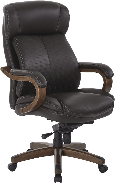 wood and leather desk chair. Black Bedroom Furniture Sets. Home Design Ideas