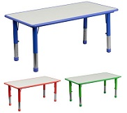 Kids Rectangular Safety Activity Tables