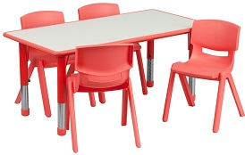 Kids Rectangular Table Set