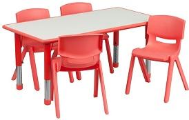 Kids Rectangular Table Set