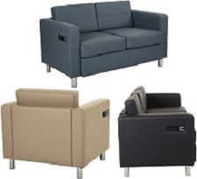 Sofa Seating with Charging Stations