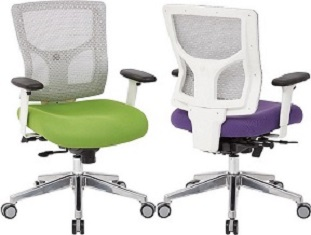 White Mesh Mid Back Managers Chair