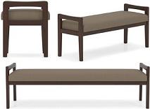 Commercial Wooden Frame Benches