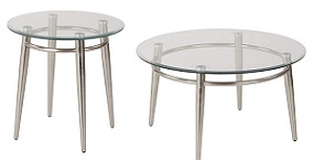 Glass Top Round Reception Area Tables