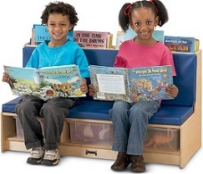 Kids Reading and Storage Bench