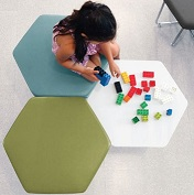 Kids Hexagonal Stools and Table