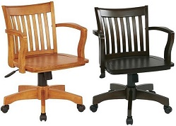Wood Bankers Chairs